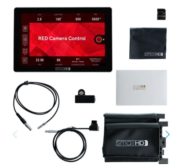 "SmallHD Cine 7 7"", 1800Nits, DCI-P3 Color Touchscreen Monitor + RED DSMC2 Camera Control Software"