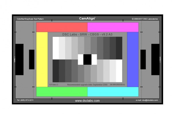 DSC Labs CamAlign Chip Chart ColorBar/GrayScale