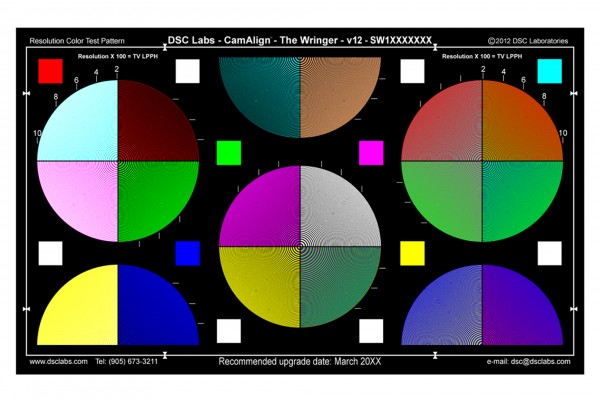DSC Labs The Wringer Color Resolution Chart
