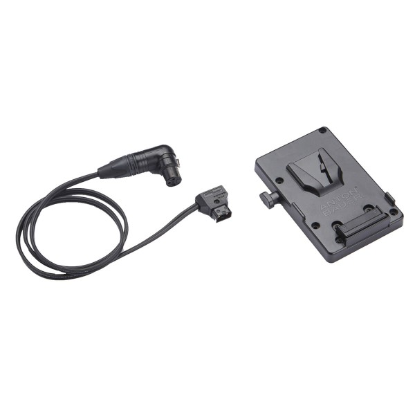 Litepanels V-Mount Battery Bracket with P-Tap to 3-pin XLR cable
