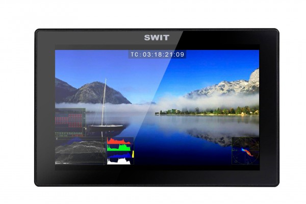 Swit S-1073F 7-inch 1920x1080,3GSDI/HDMI on camera monitor, without battery plate