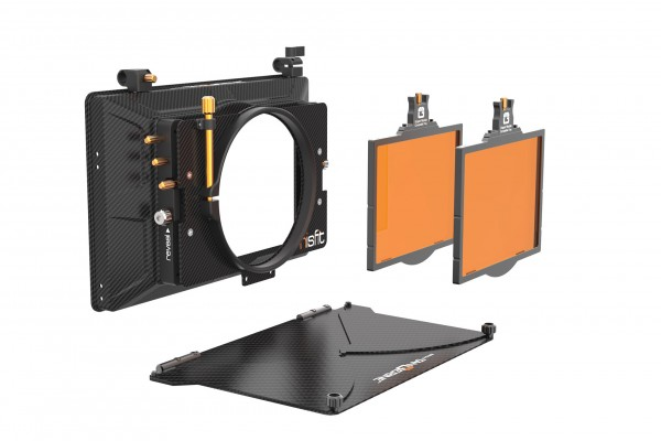 Bright Tangerine 'Misfit Kit 1: 4'' x 5.65'' 2-Stage Matte Box: inc,Top Flag & Mounts, 114 mm Cla