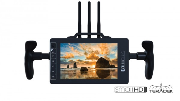 "SmallHD 703Bolt + V-Mount 7"" UltraBright Full-HD Monitor,HD-SDI/HDMI, 3000Nits and Builtin Teradek 5"