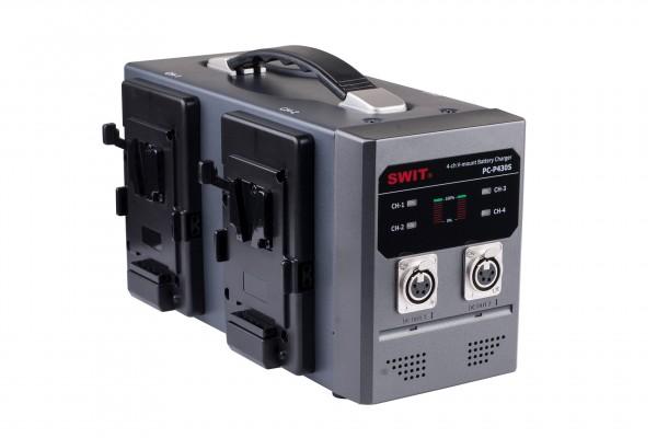 Swit PC-P430S 4-ch Simultaneous Charger 2-ch fast & 4-pin XLR simultaneous 15V out.