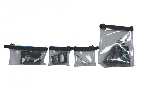Orca transparent pouches set ( 4 pouches )