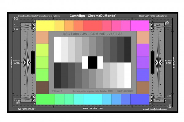DSC Labs ChromaDuMonde 28 with Resolution CamAlign Chip Chart