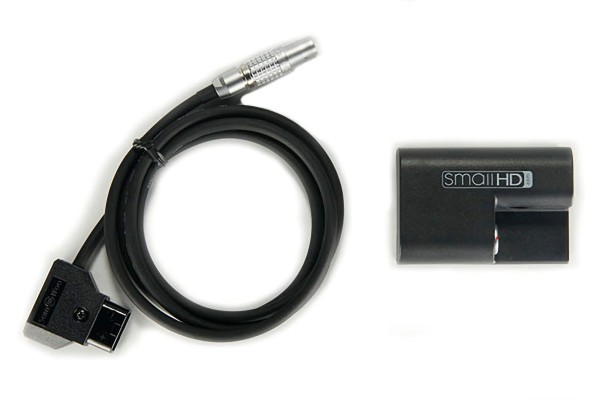 SmallHD LP-E6 Style Battery with 2pin Power Connetor to D-TAP Cable