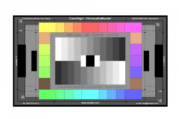 DSC Labs ChromaDuMonde 28 Junior CamAlign Chip Chart