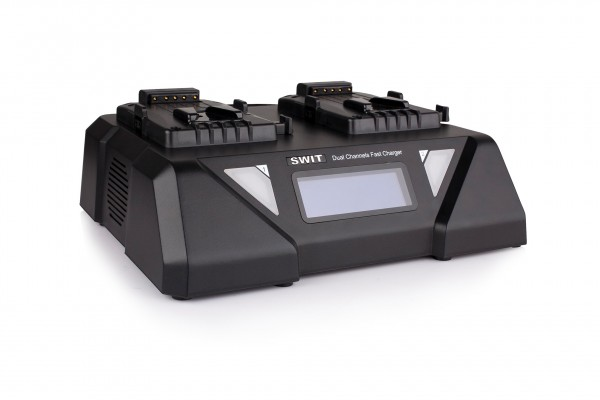 Swit S-3812S 2-ch Simultaneous Fast Charger and Adaptor