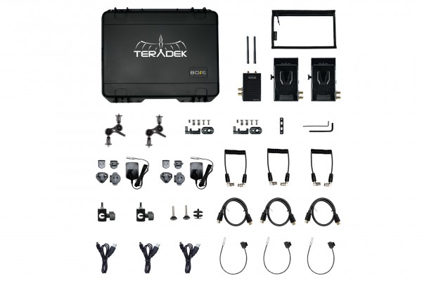 Teradek Bolt XT 500 Wireless SDI/HDMI Transmitter/2x Receiver Deluxe Kit V-Mount