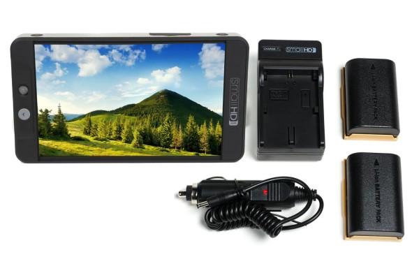 SmallHD 702 Bright Full HD Field Monitor + LP-E6 Battery Kit