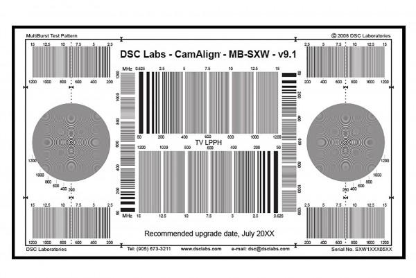 DSC Labs MultiBurst Resolution Pattern Chart