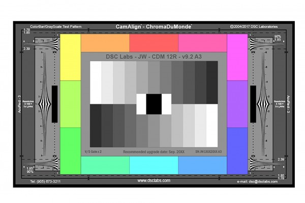 DSC Labs ChromaDuMonde 12 with Resolution CamAlign Chip Chart