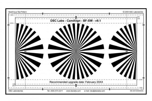 DSC Labs Backfocus Focus Pattern Chart