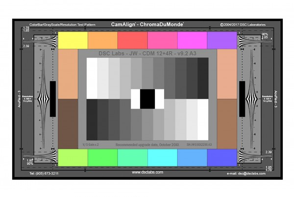 DSC Labs ChromaDuMonde 12+4 CamAlign Chip Chart