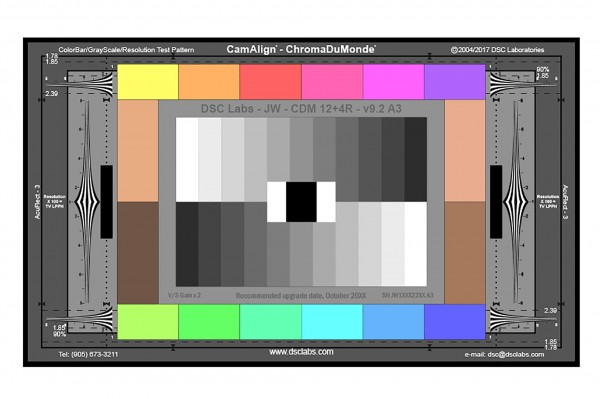 DSC Labs ChromaDuMonde 12+4 with Resolution CamAlign Chip Chart